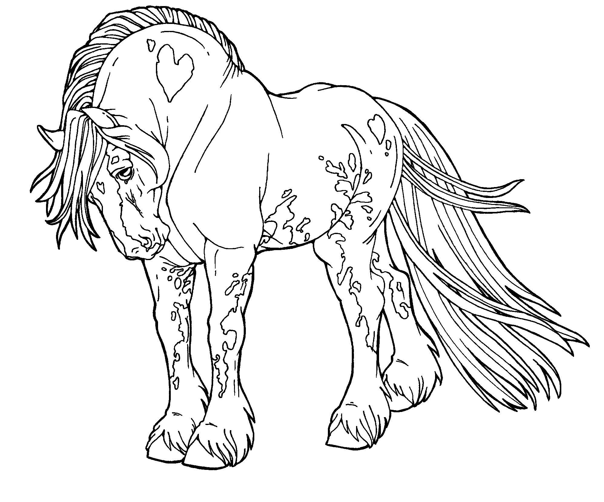 detailed horse coloring pages pin by akii gaikwad on 101ink horse coloring pages detailed pages coloring horse