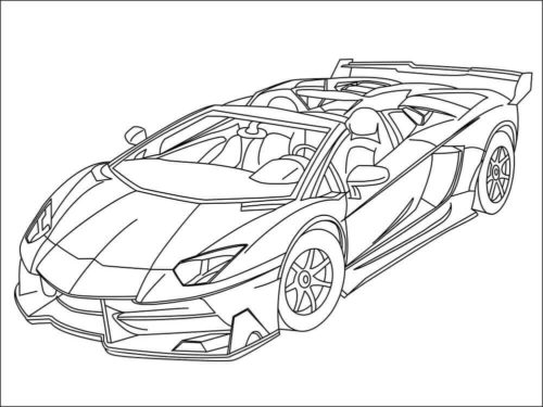 Detailed lamborghini coloring pages