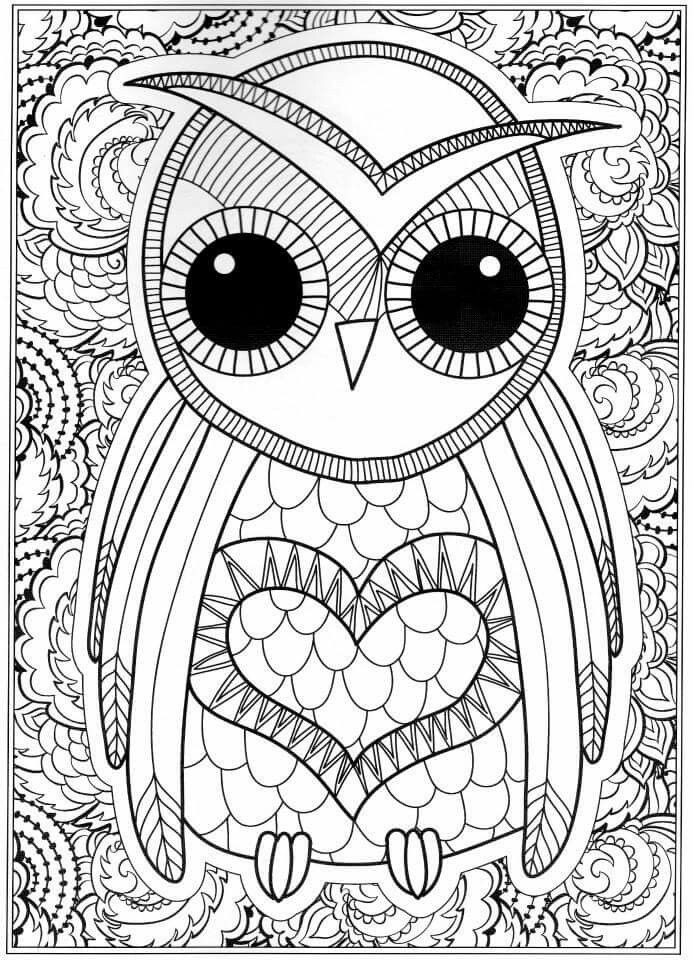 detailed owl coloring pages printable coloring pages of owls coloring pages free owl coloring detailed pages