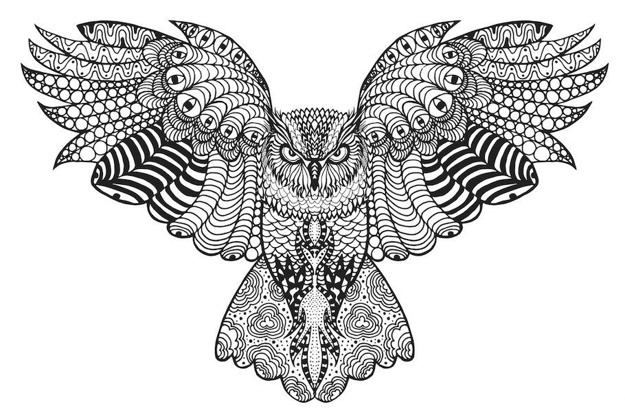 detailed owl coloring pages superb coloring adult owl coloring pages falcoaircraftorg coloring detailed pages owl