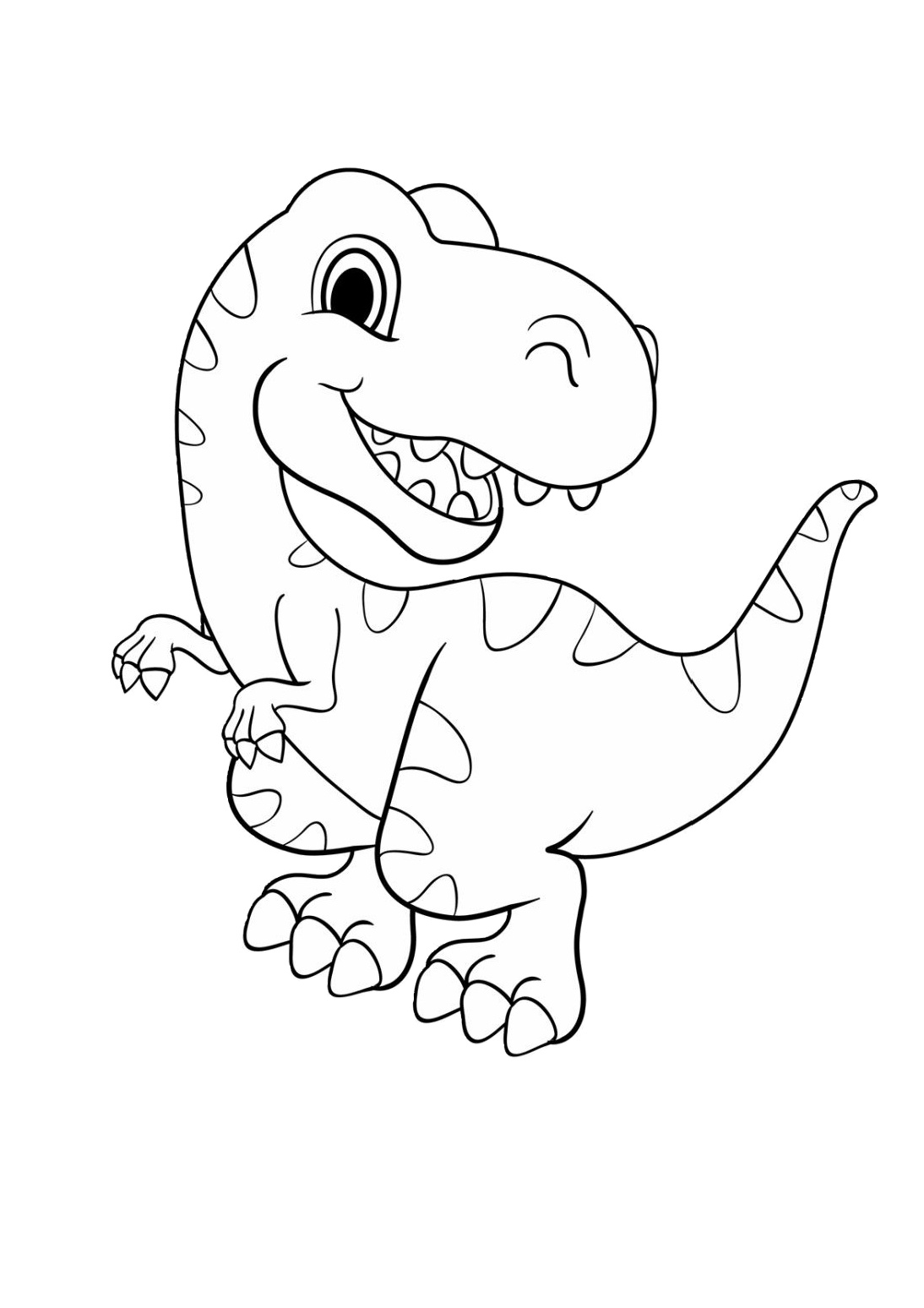 dinosaur coloring easy easy dinosaur coloring pages coloring home coloring dinosaur easy