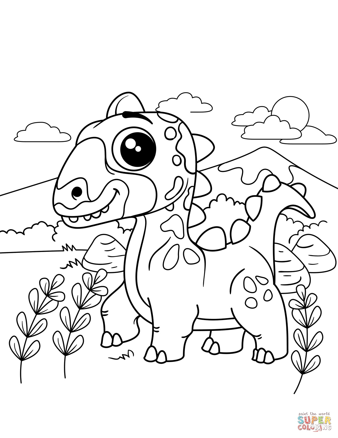 dinosaur coloring easy simple dinosaur coloring pages coloring pages to dinosaur easy coloring 1 1