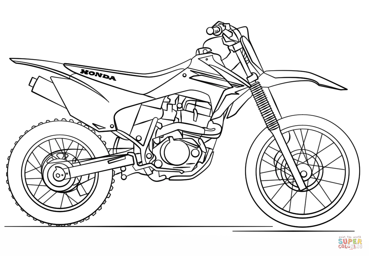dirt bike pictures to color dirt bike coloring pages for kids coloring home bike to color dirt pictures