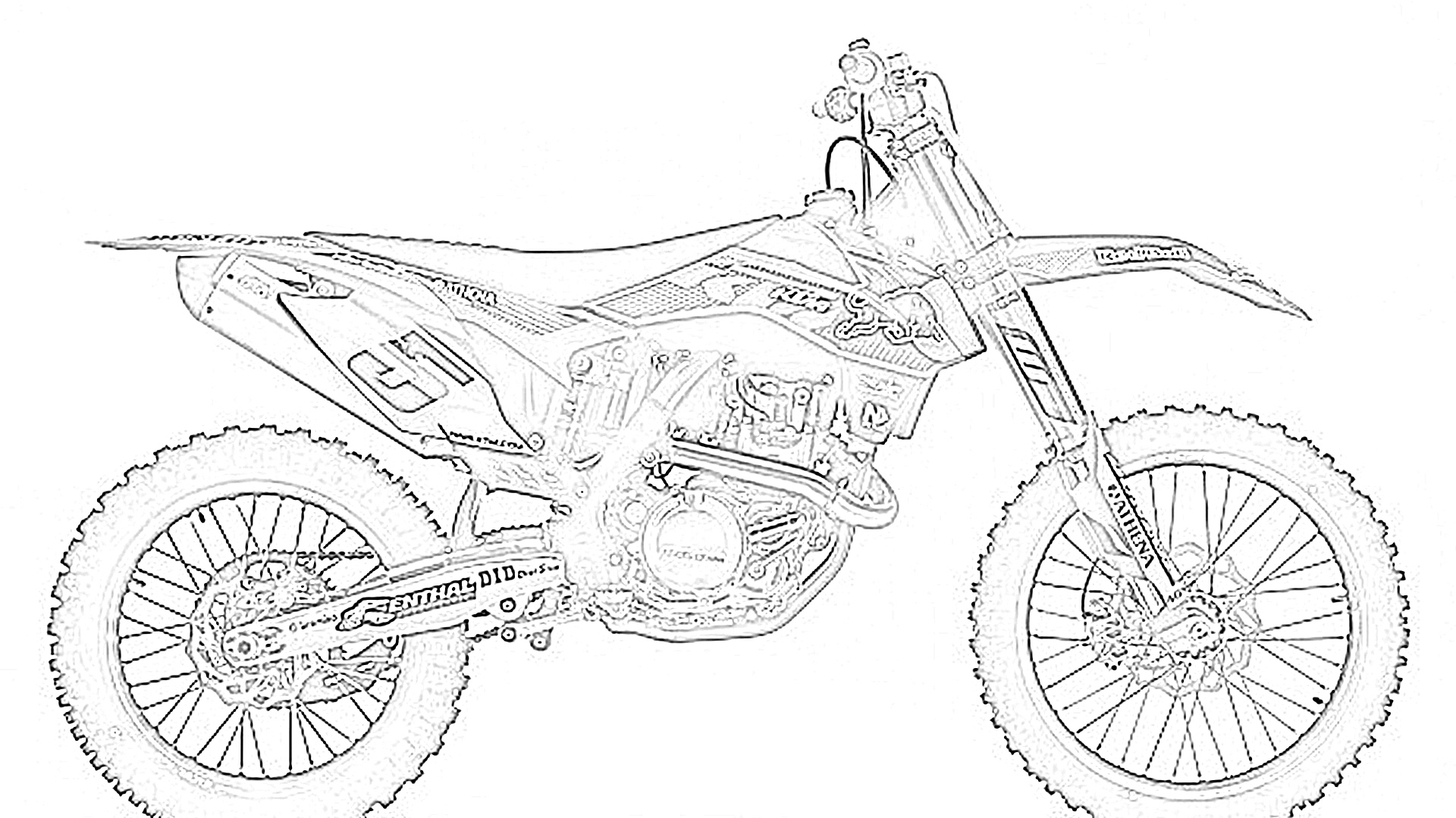 Dirt bike pictures to color