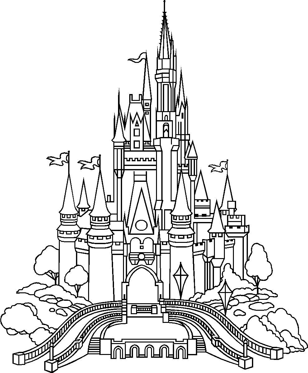 disney castle coloring pages cinderella castle drawing free download on clipartmag castle pages coloring disney