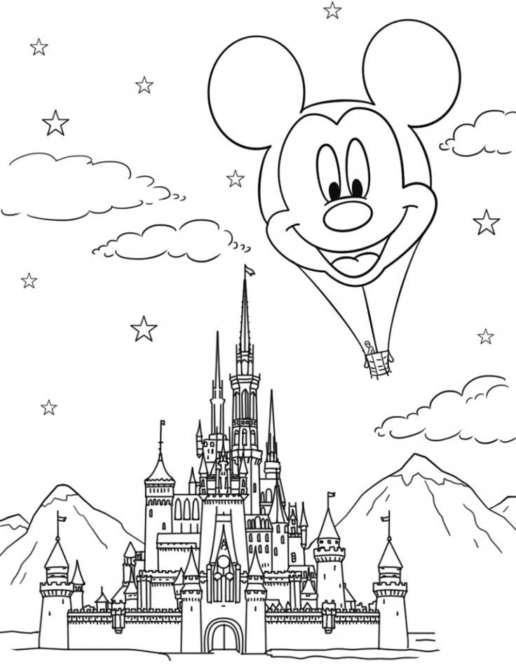 disney castle coloring pages disneyland castle drawing at getdrawings free download pages coloring castle disney