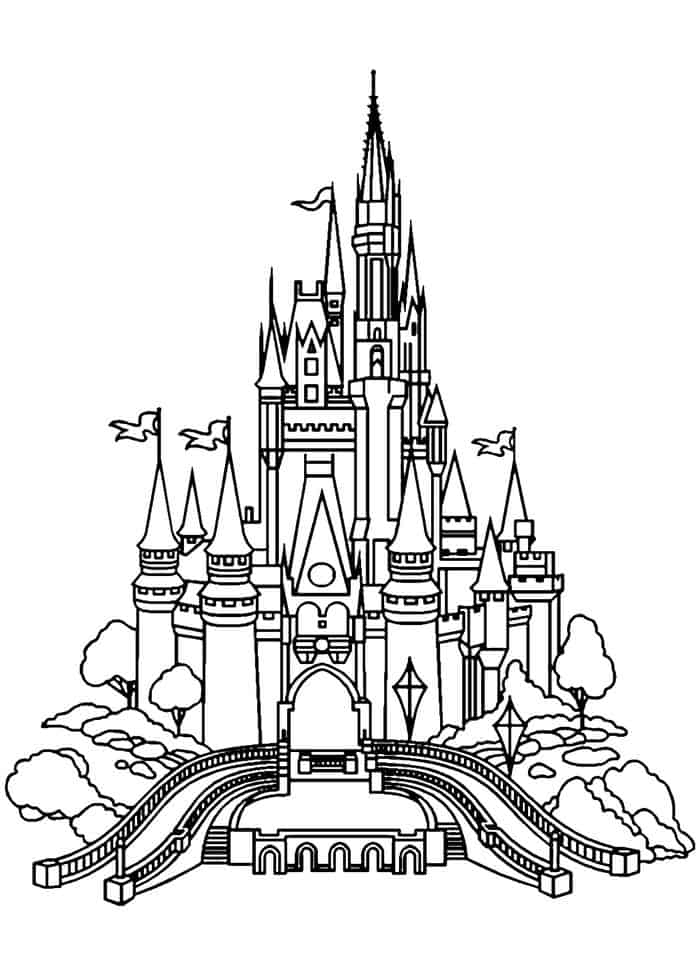disney castle coloring pages free printable cinderella coloring pages for kids cool2bkids castle coloring pages disney