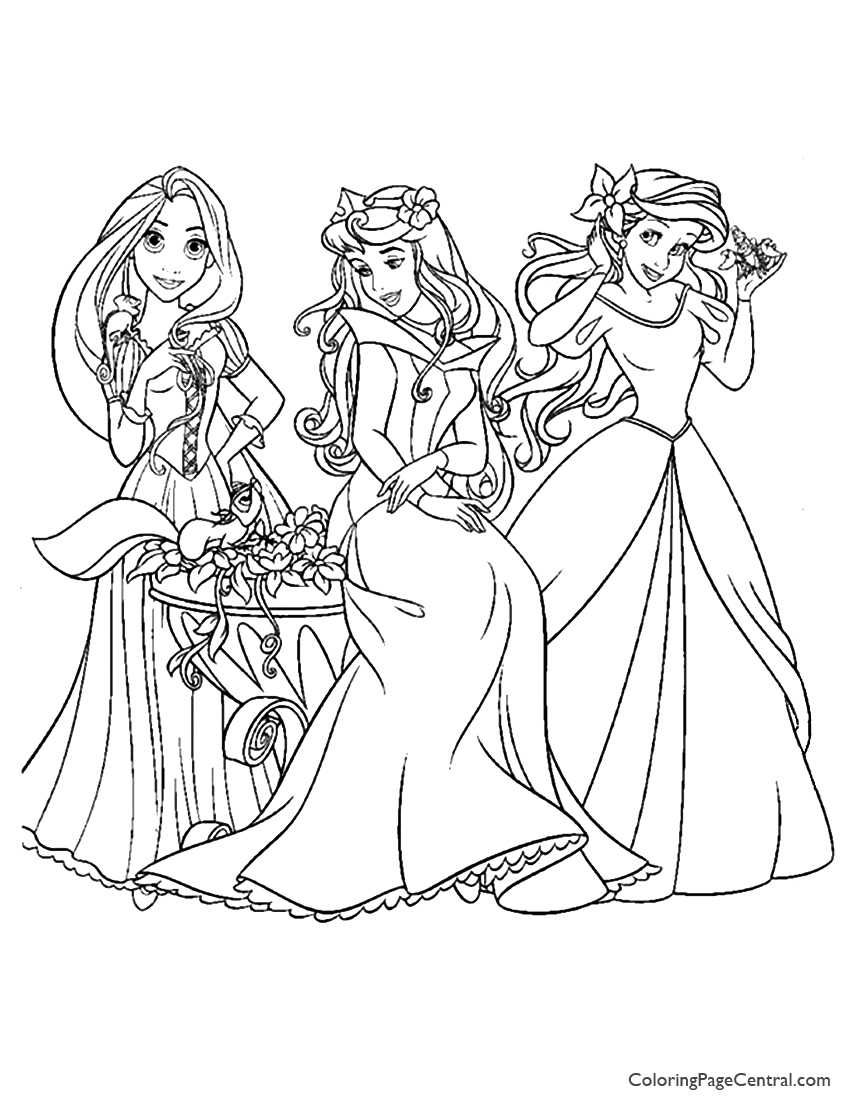 disney princess coloring worksheets disney princesses 10 coloring page coloring page central coloring princess worksheets disney