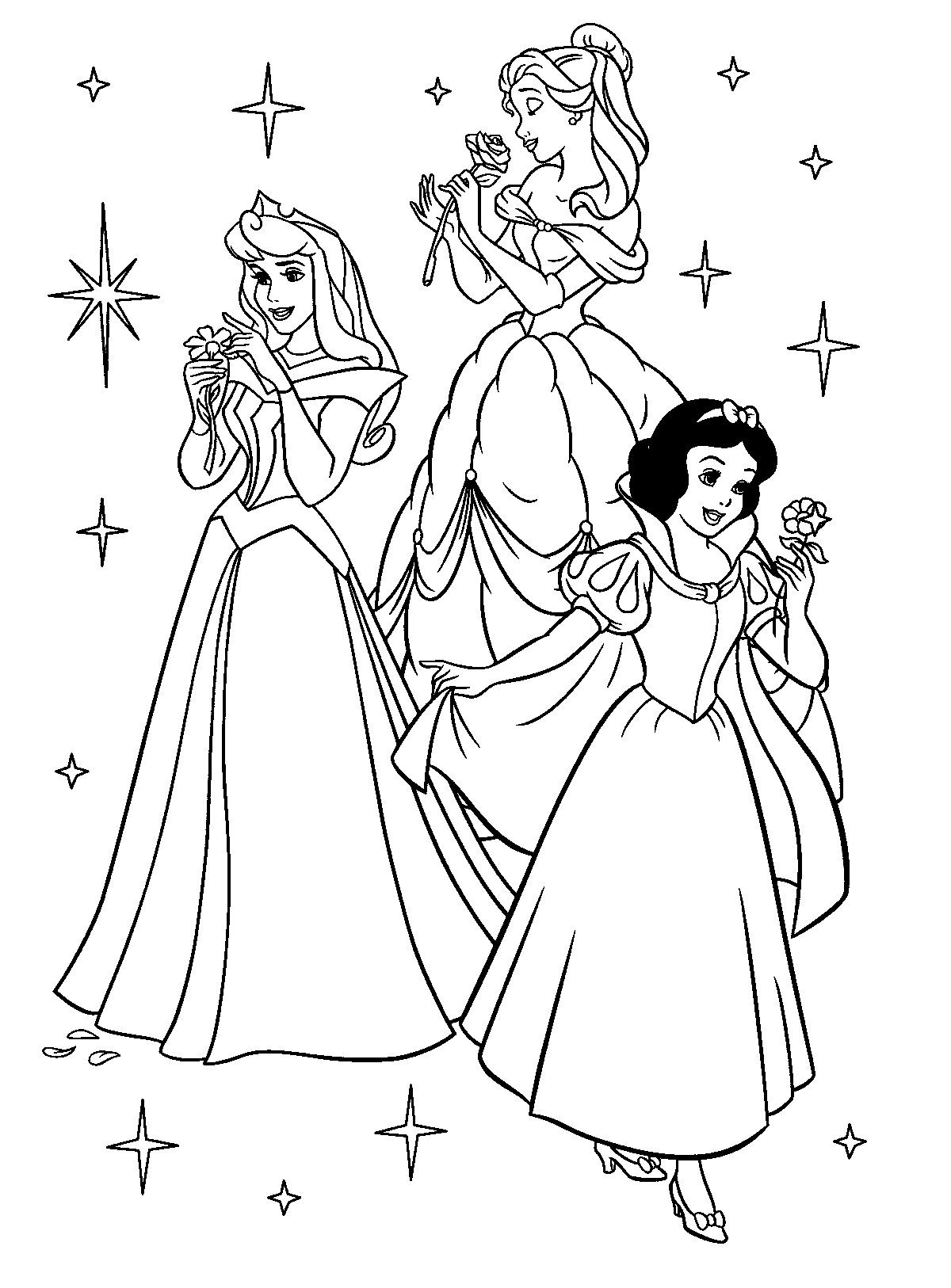 disney princess group coloring pages princess aurora and prince together sleeping beauty coloring disney pages group princess