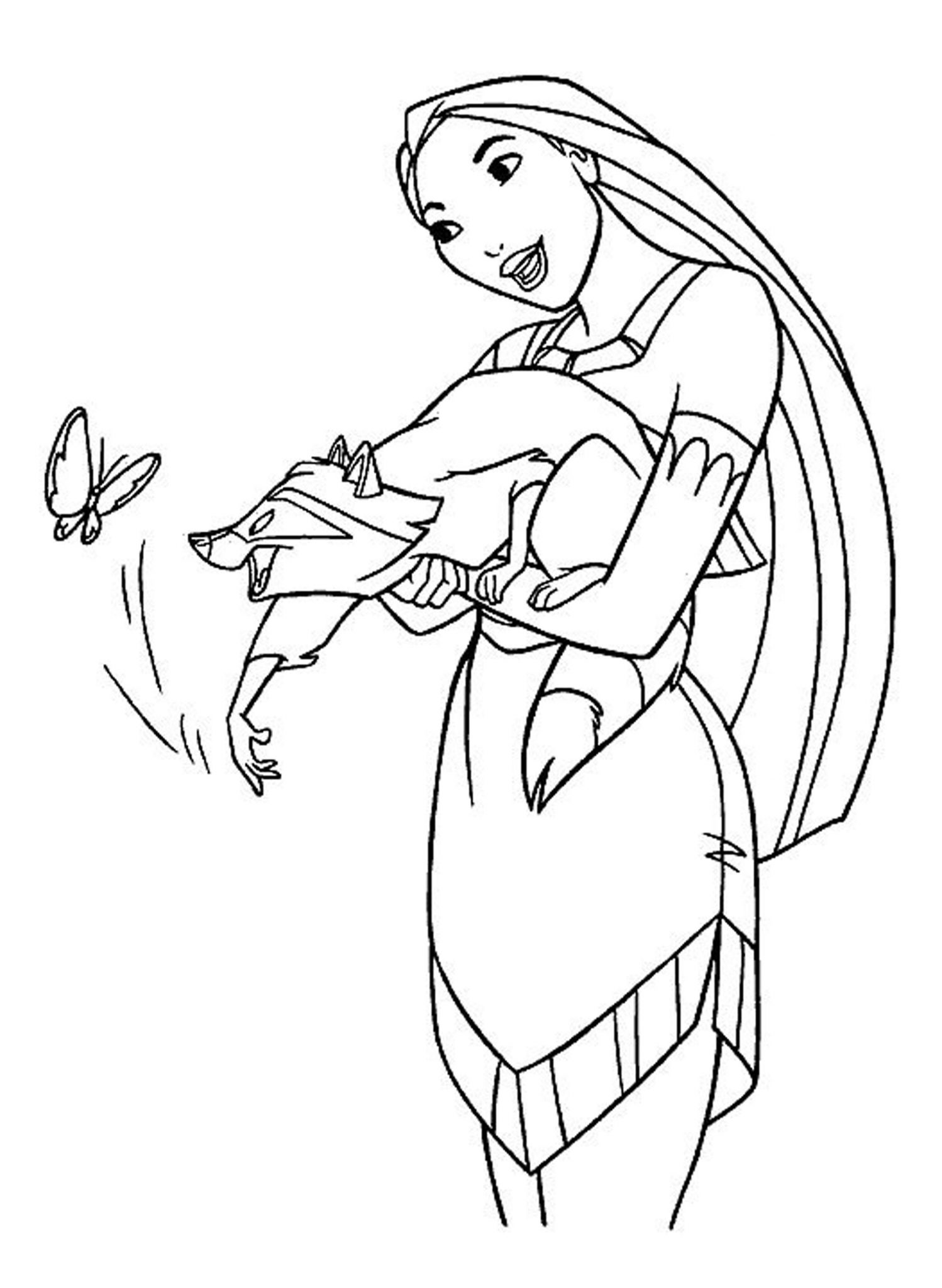 Disney printable easy coloring pages