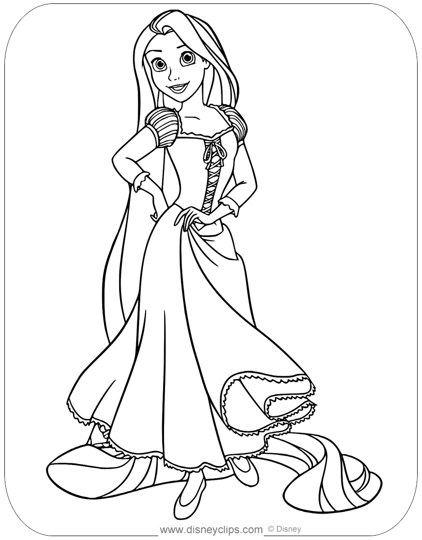 disney tangled coloring pages disney39s tangled coloring pages 2 disneyclipscom tangled disney coloring pages