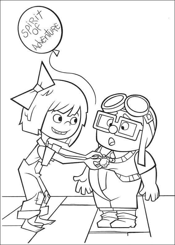disney up house coloring pages russell and carl looking at the map in disney up coloring up house disney pages coloring