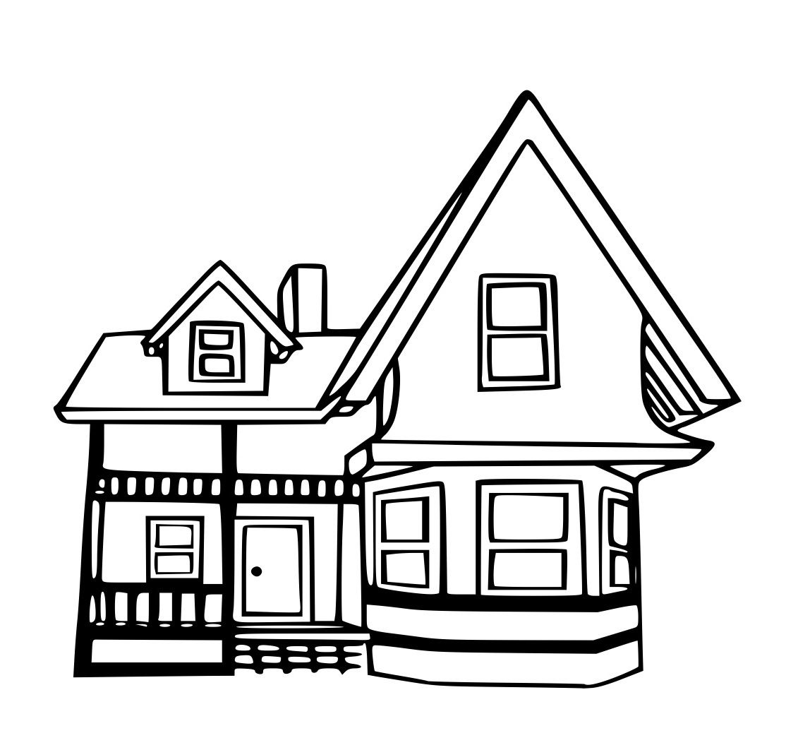 Disney up house coloring pages