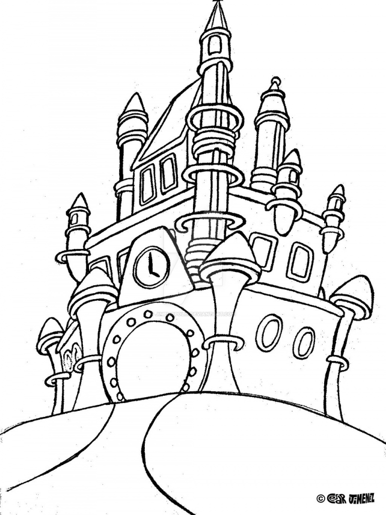 disney world castle coloring pages disney castle drawing step step at getdrawings free download castle disney coloring world pages