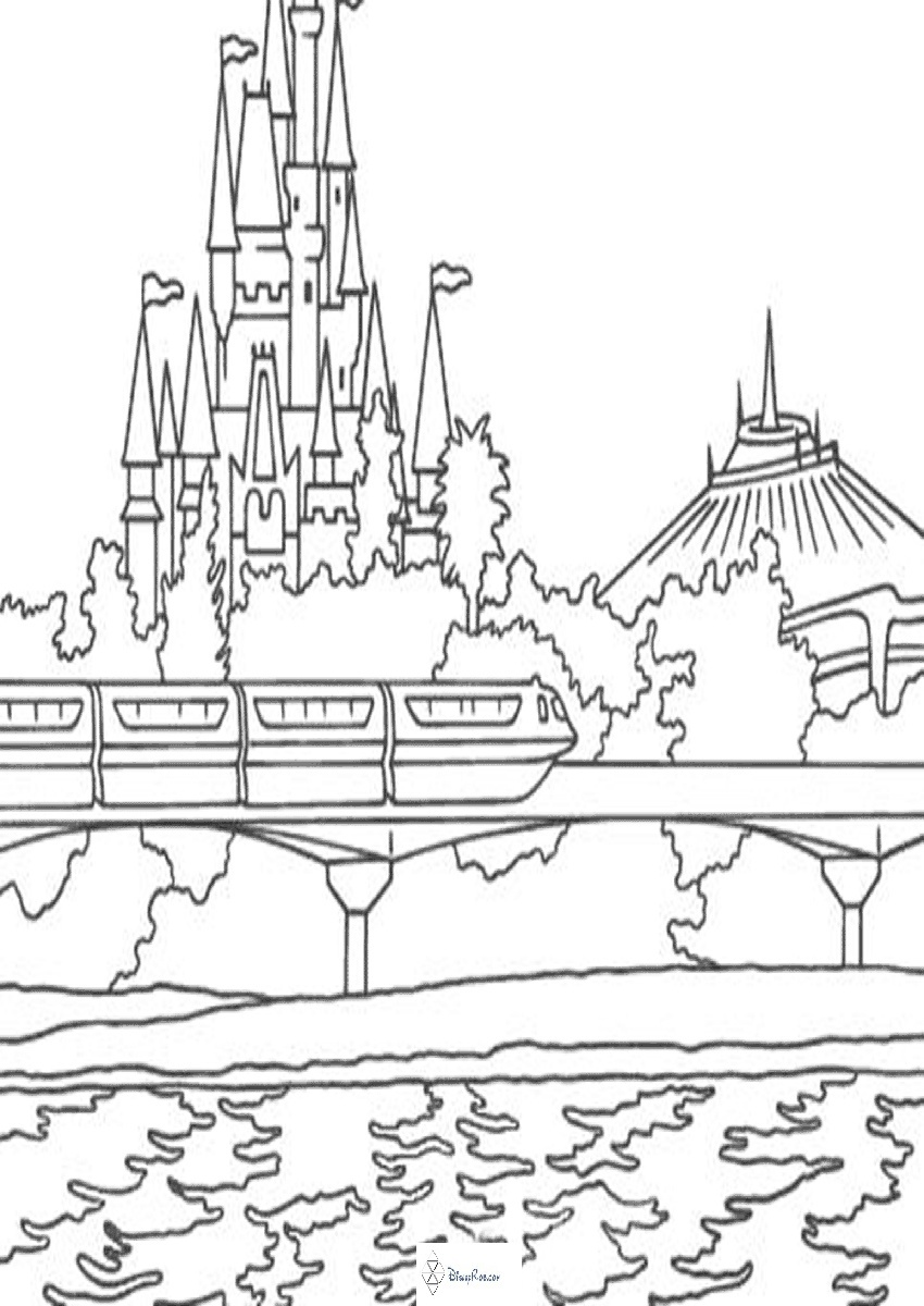 disney world castle coloring pages disneyland castle drawing at getdrawings free download coloring castle pages world disney