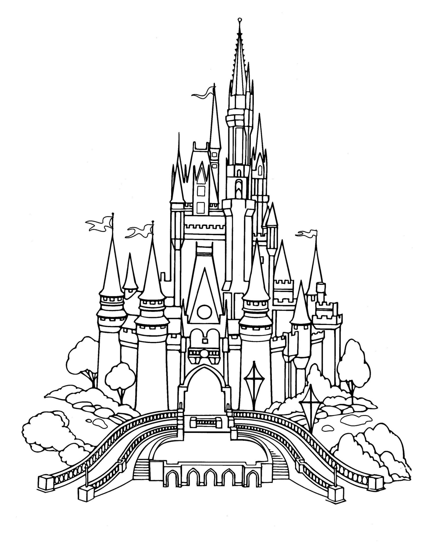 disney world castle coloring pages disneyland castle drawing at getdrawings free download coloring pages disney castle world