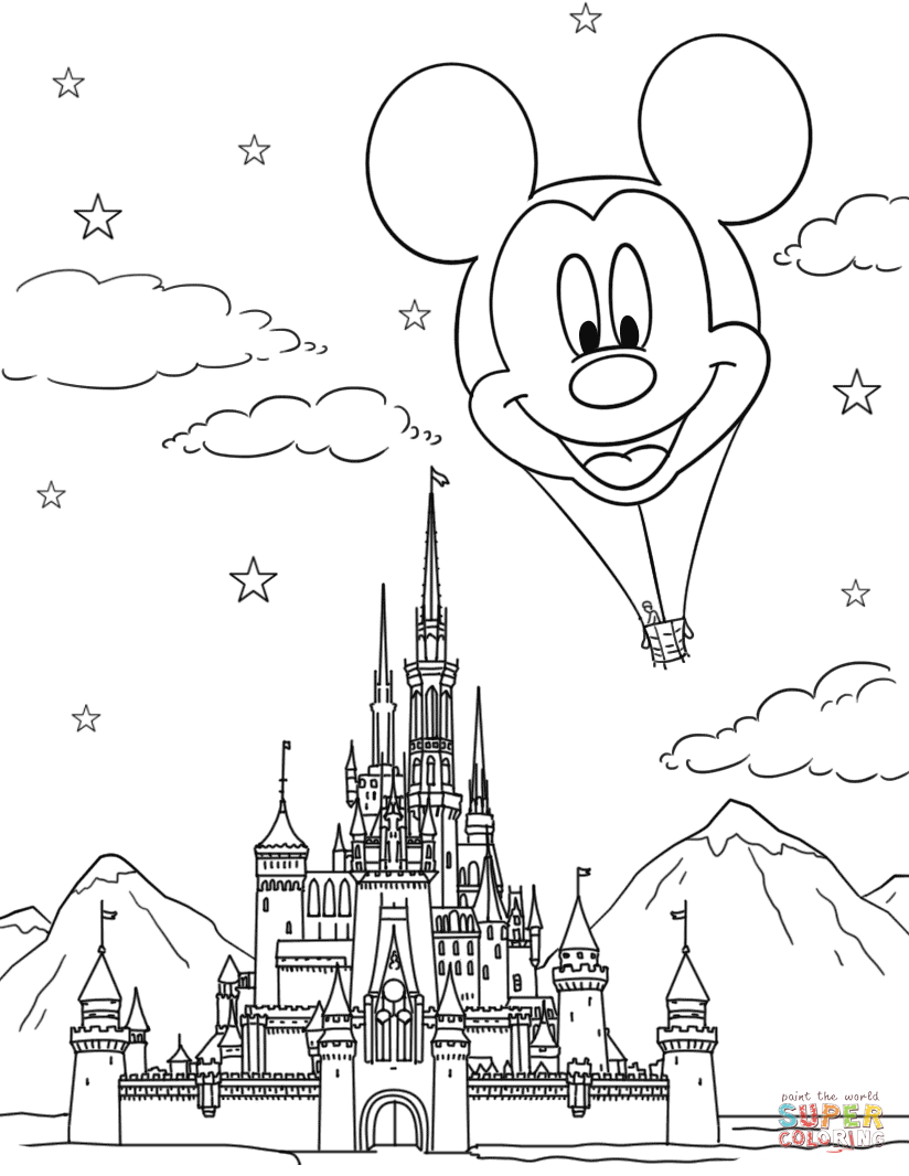 disney world castle coloring pages free printable cinderella coloring pages for kids cool2bkids castle disney pages coloring world