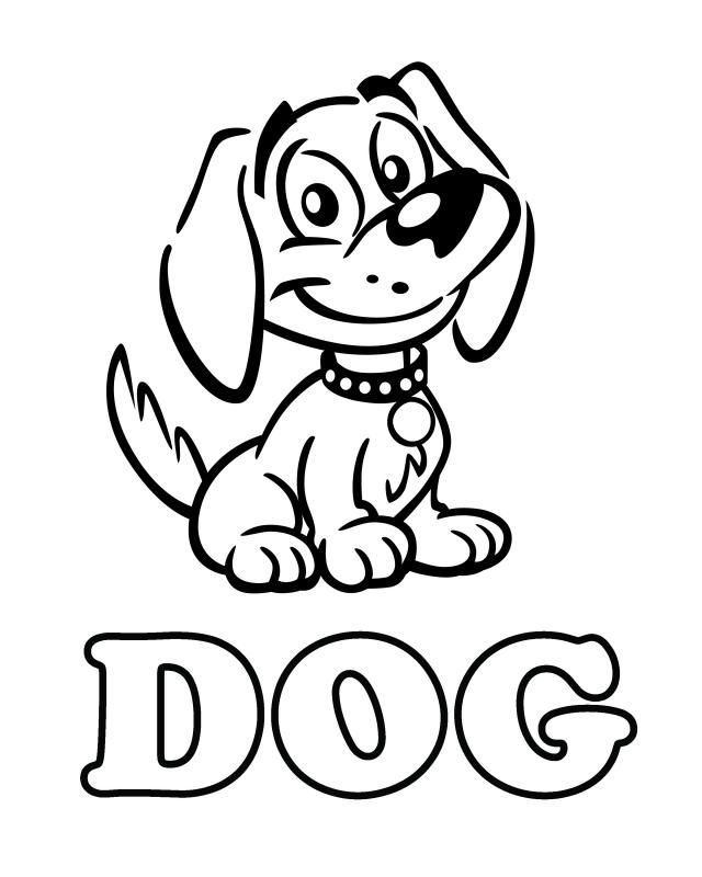 dog coloring in dog coloring pages for kids printable coloring home coloring in dog