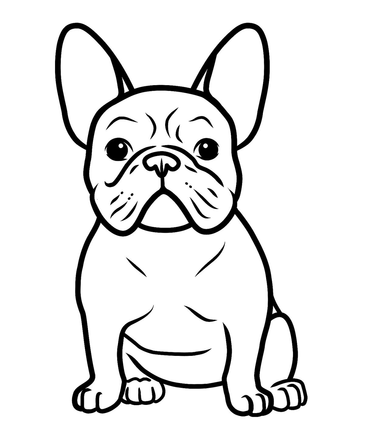 dogs pictures to color sitting dog drawing free download on clipartmag pictures to dogs color