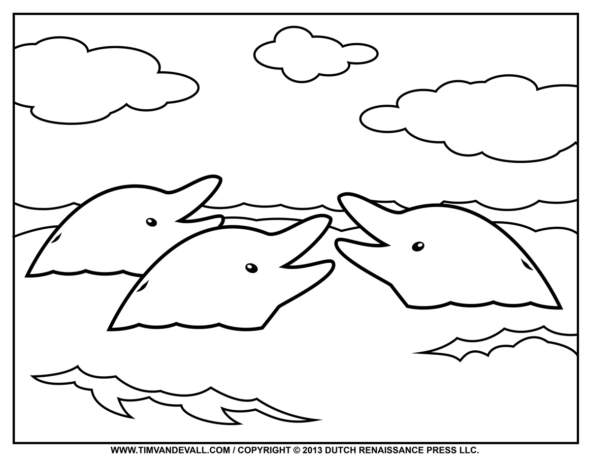 dolphins to color and print free printable dolphin coloring pages for kids and color dolphins print to