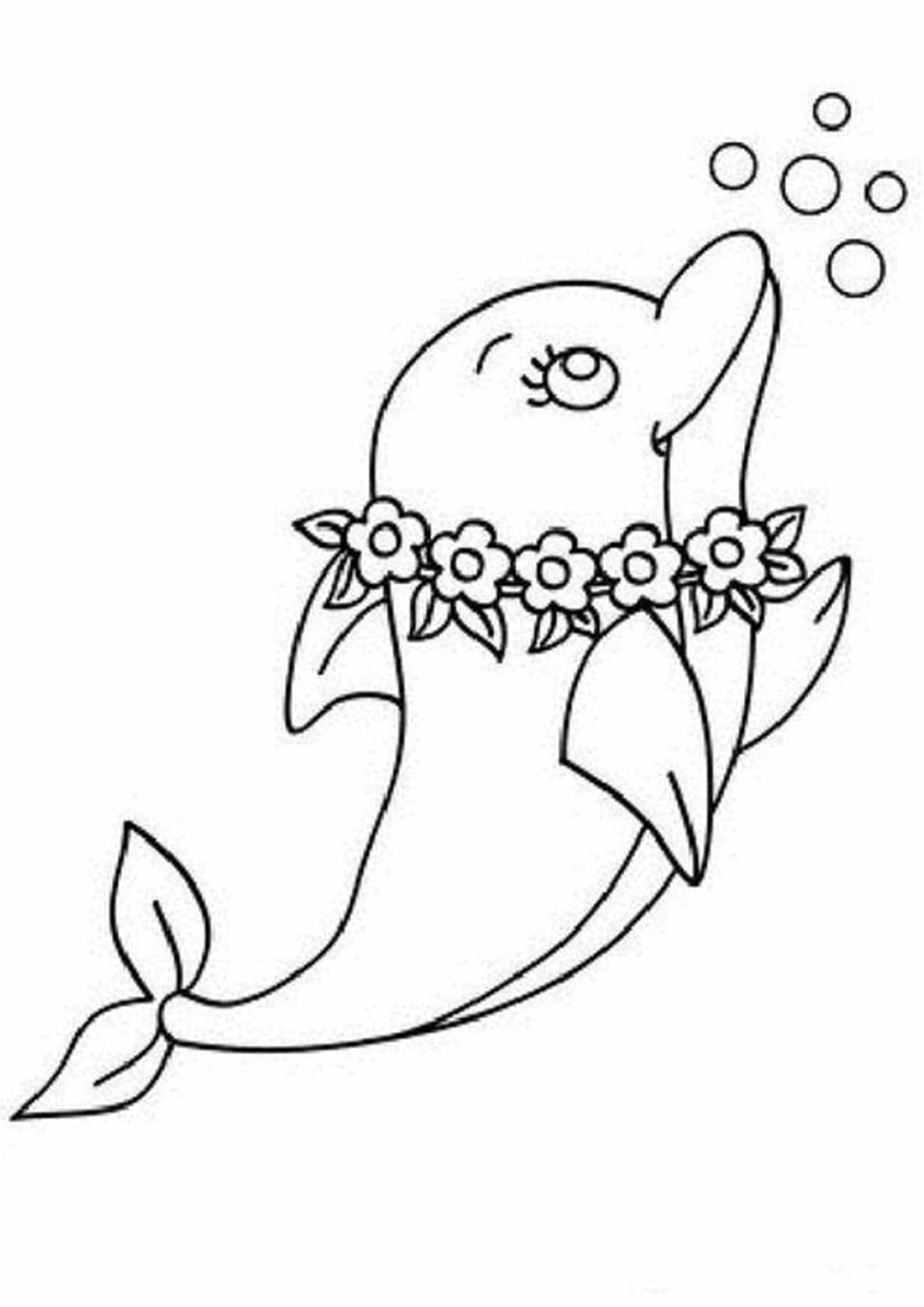 dolphins to color and print two dolphins coloring page to print or download for dolphins and to print color