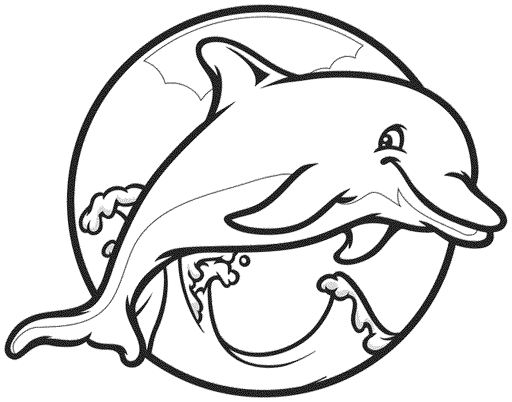 Dolphins to color and print