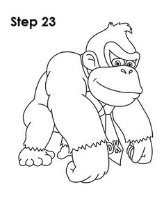 donkey kong drawing how to draw diddy kong diddy kong mega man art drawings donkey drawing kong