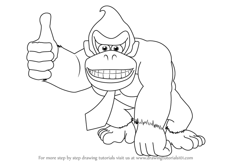 donkey kong drawing learn how to draw donkey kong donkey kong step by step donkey kong drawing