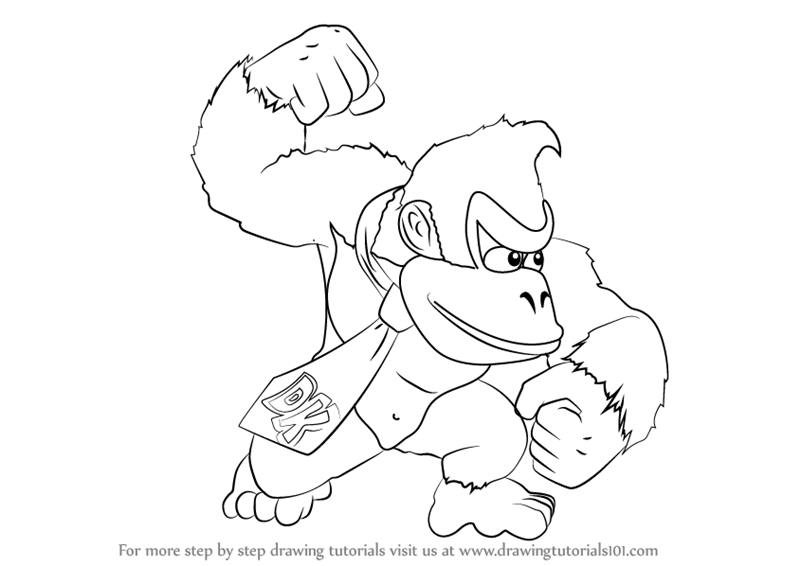 donkey kong drawing learn how to draw donkey kong from super smash bros super kong drawing donkey
