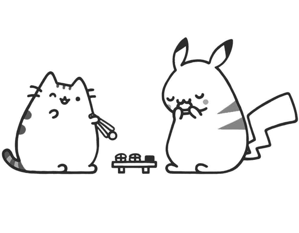 donut pusheen cat coloring pages coloring and drawing kawaii colouring page pusheen the pusheen cat coloring donut pages