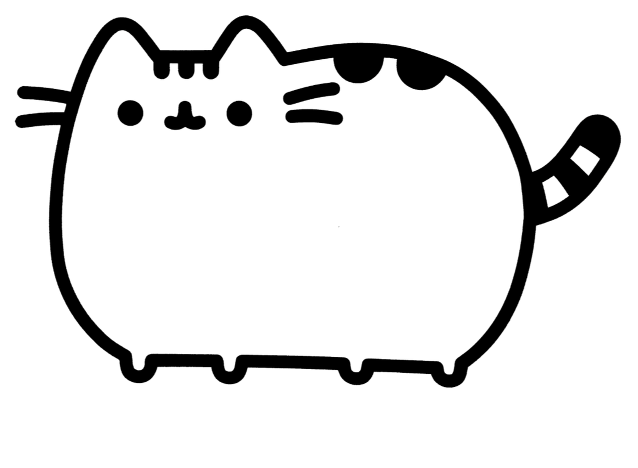 donut pusheen cat coloring pages donut pusheen cat popular easy coloring pages pusheen cat donut coloring pusheen pages