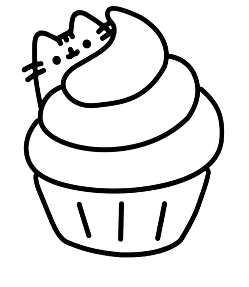 donut pusheen cat coloring pages kleurplaat cute donut coloring kawaii dounuts donut page coloring donut pages pusheen cat