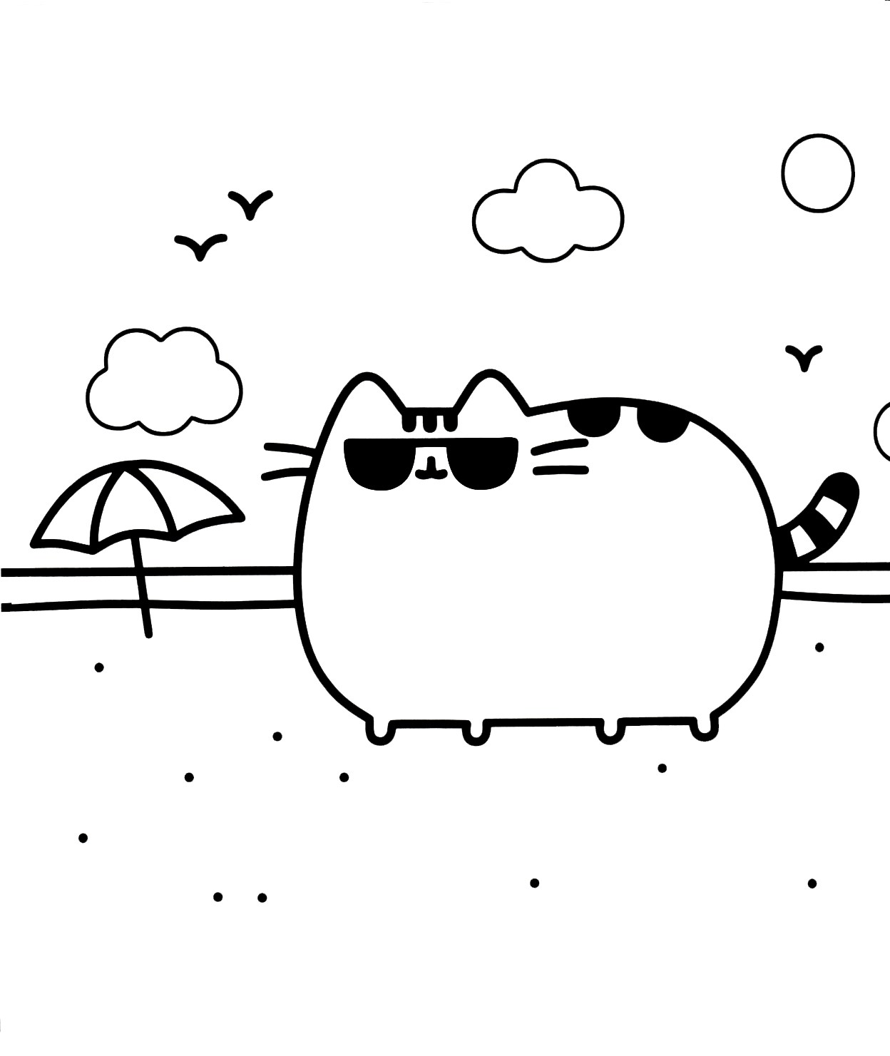 donut pusheen cat coloring pages pusheen cat coloring pages black and white coloring pages pusheen pages cat donut coloring
