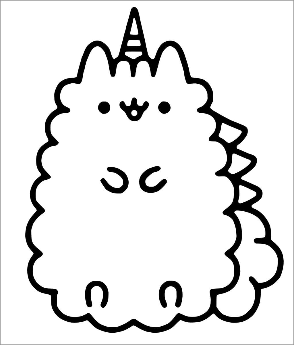 donut pusheen cat coloring pages pusheen kleurplaat pusheen pages coloring donut cat