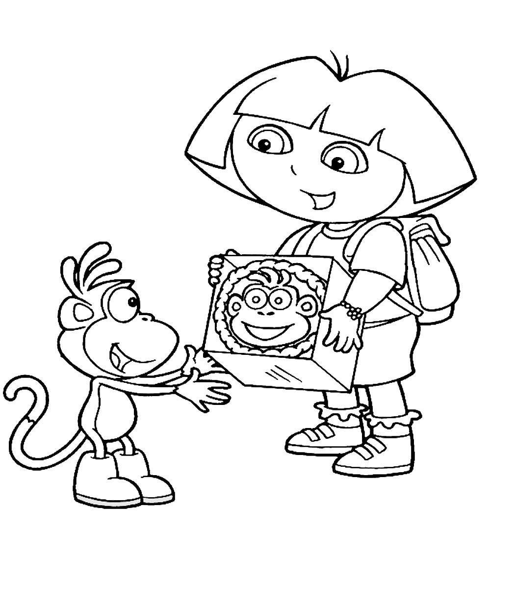 dora coloring dora the explorer coloring pages coloring dora