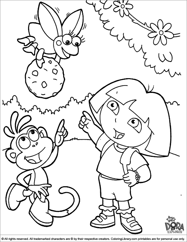 dora coloring pictures cool coming dora the explorer coloring page pictures to dora coloring pictures