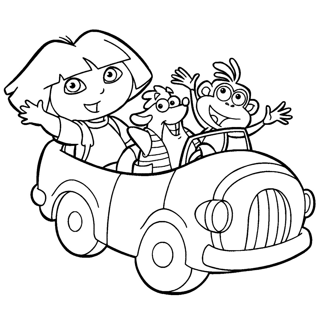dora coloring pictures print download dora coloring pages to learn new things dora pictures coloring 1 1
