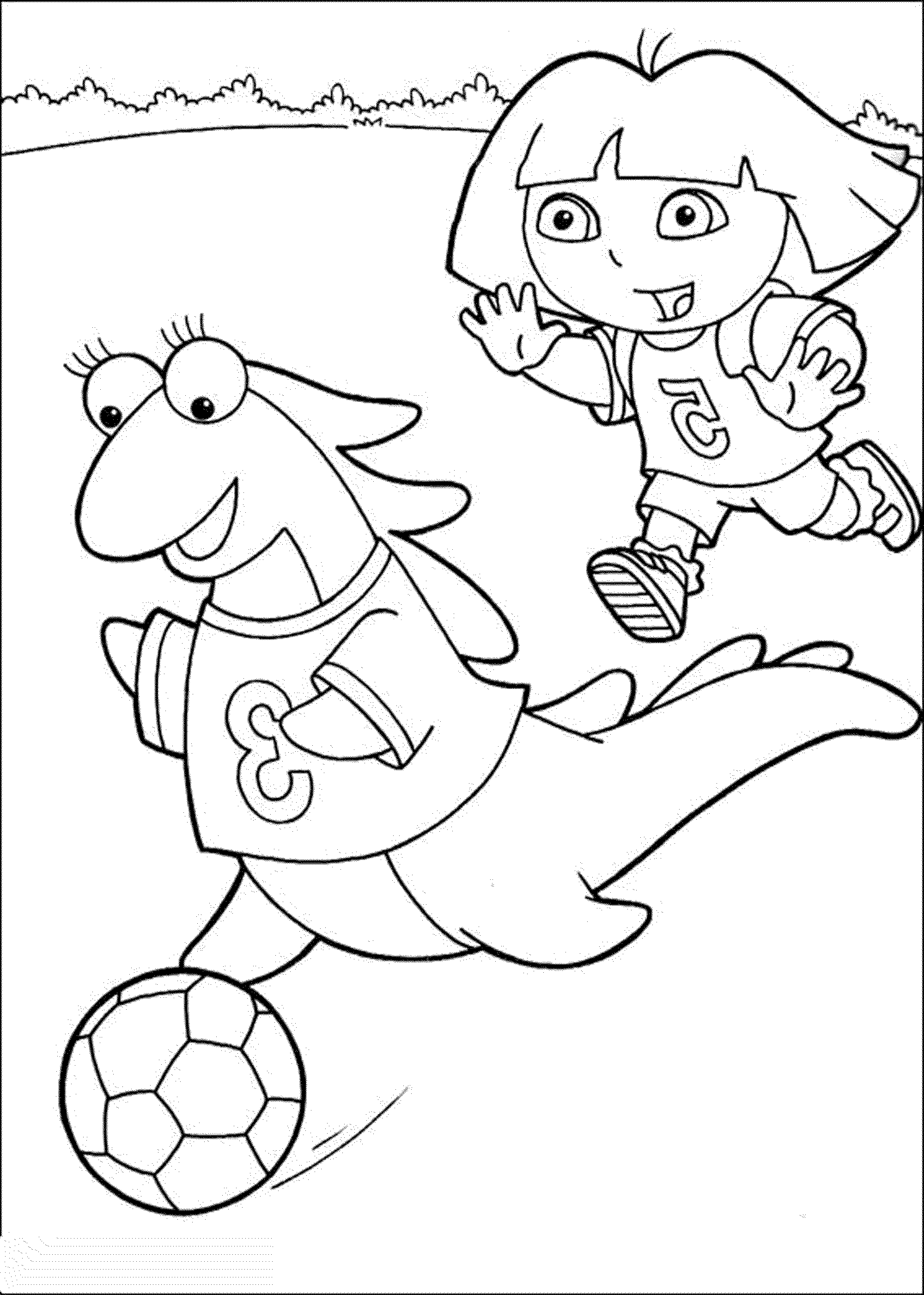dora coloring print download dora coloring pages to learn new things dora coloring