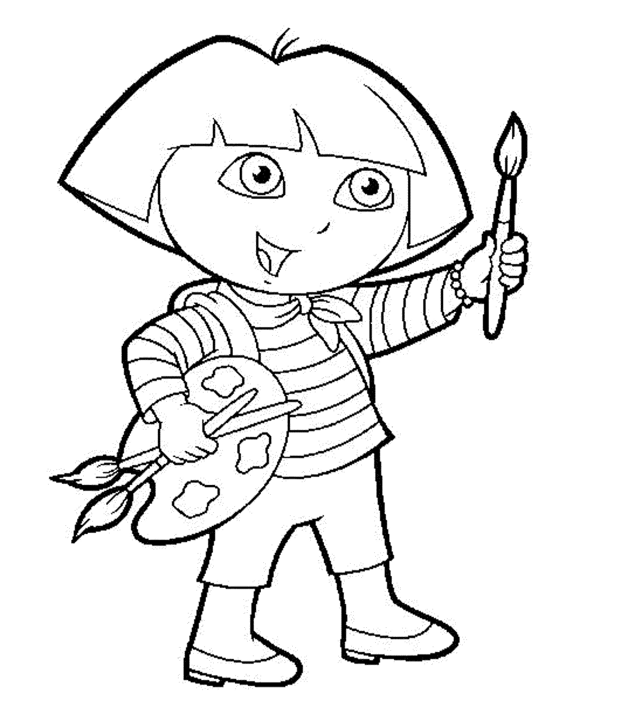 dora coloring print download dora coloring pages to learn new things dora coloring 1 2