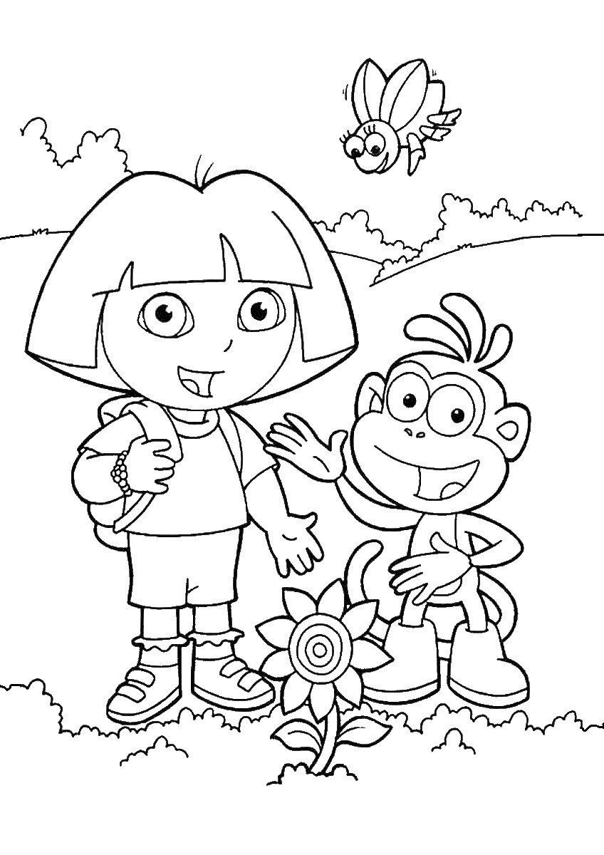 dora colouring pages printable cartoons coloring pages dora the explorer coloring pages colouring dora pages printable