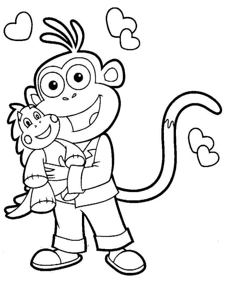 dora colouring pages printable dora the explorer boots coloring pages for kids halloween printable dora colouring pages