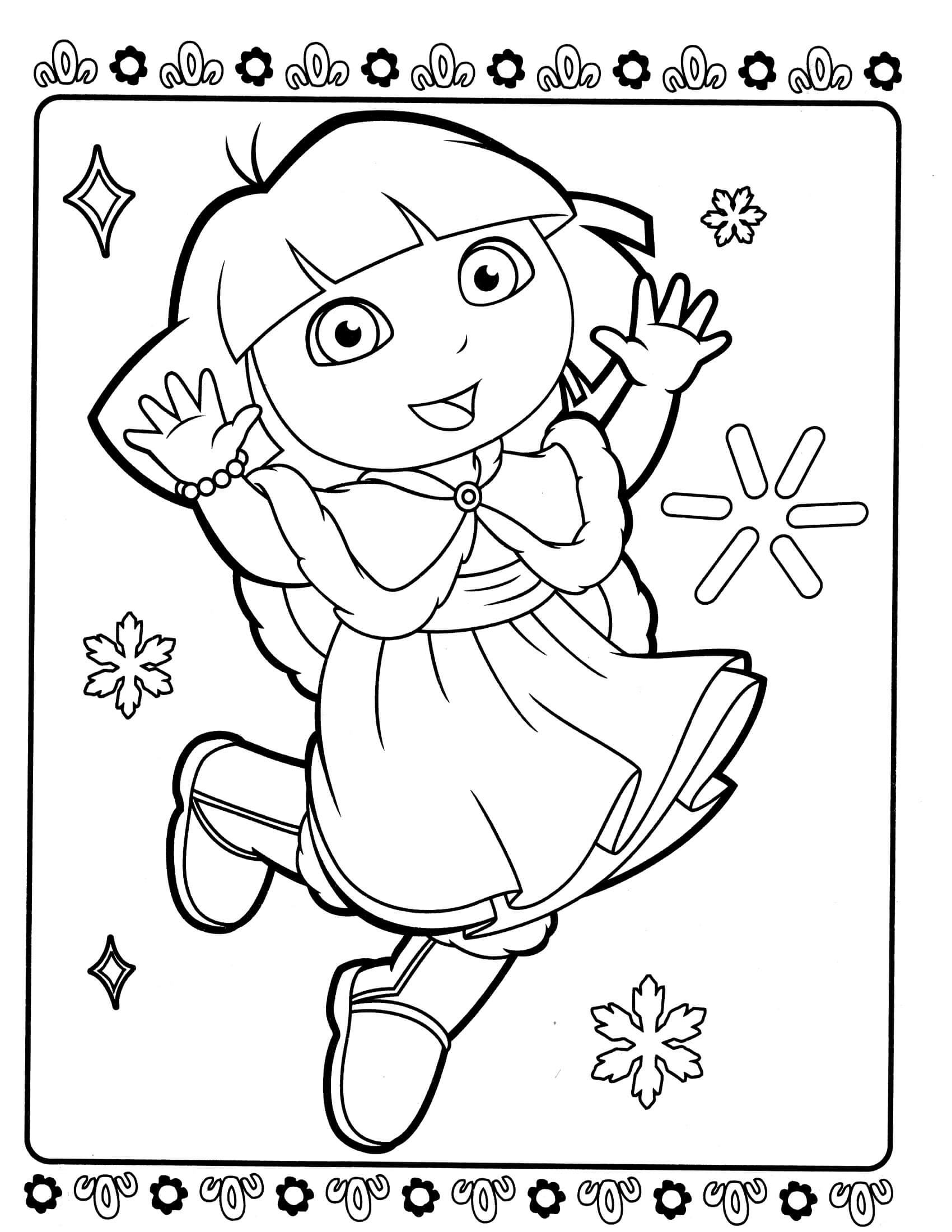 dora colouring pages printable dora the explorer coloring pages download and print dora colouring pages dora printable