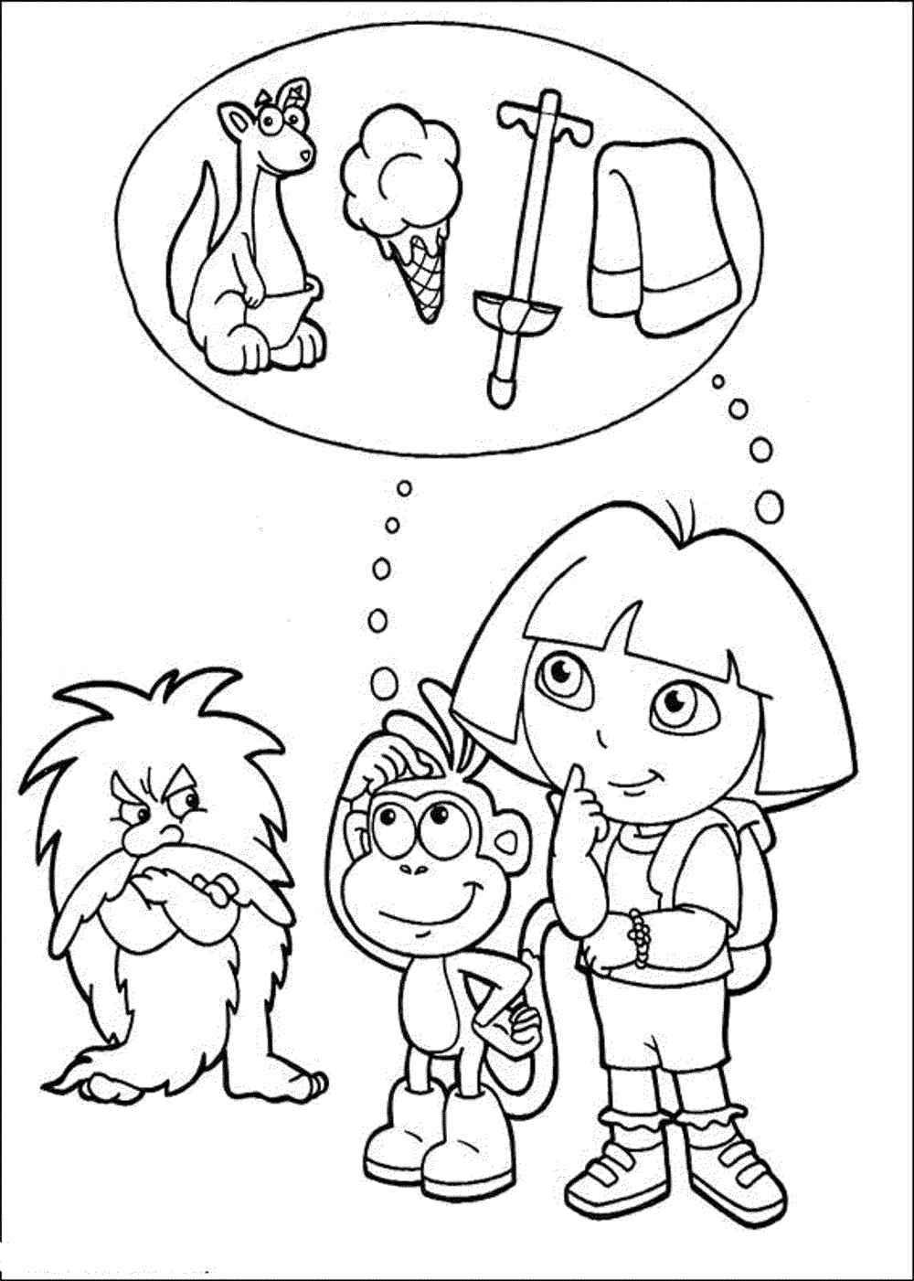 dora colouring pages printable print download dora coloring pages to learn new things dora colouring pages printable