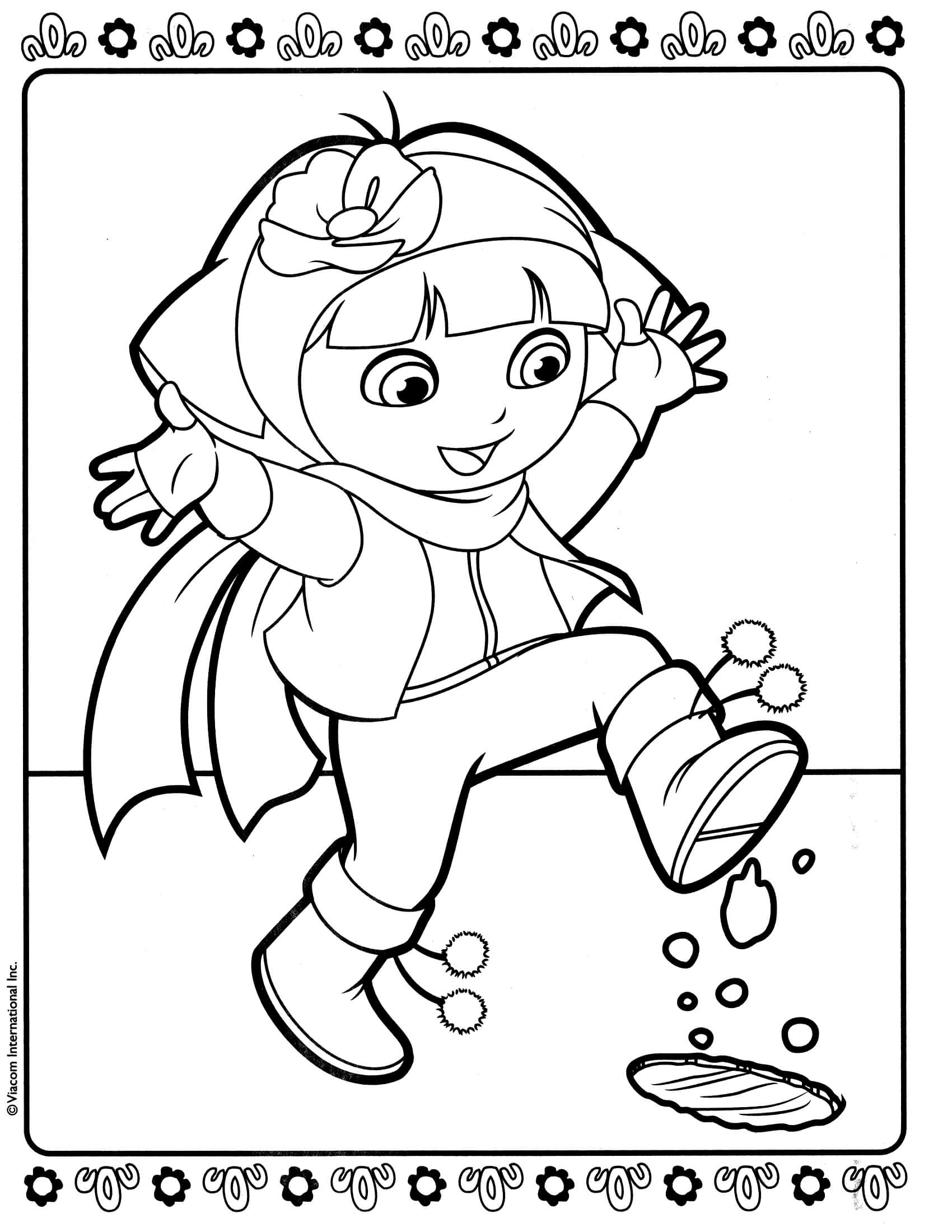 dora colouring pages printable print download dora coloring pages to learn new things dora printable pages colouring