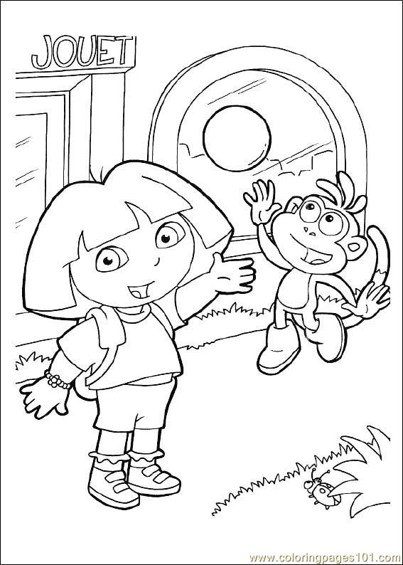 dora free coloring pages dora and boots coloring pages to download and print for free pages coloring free dora