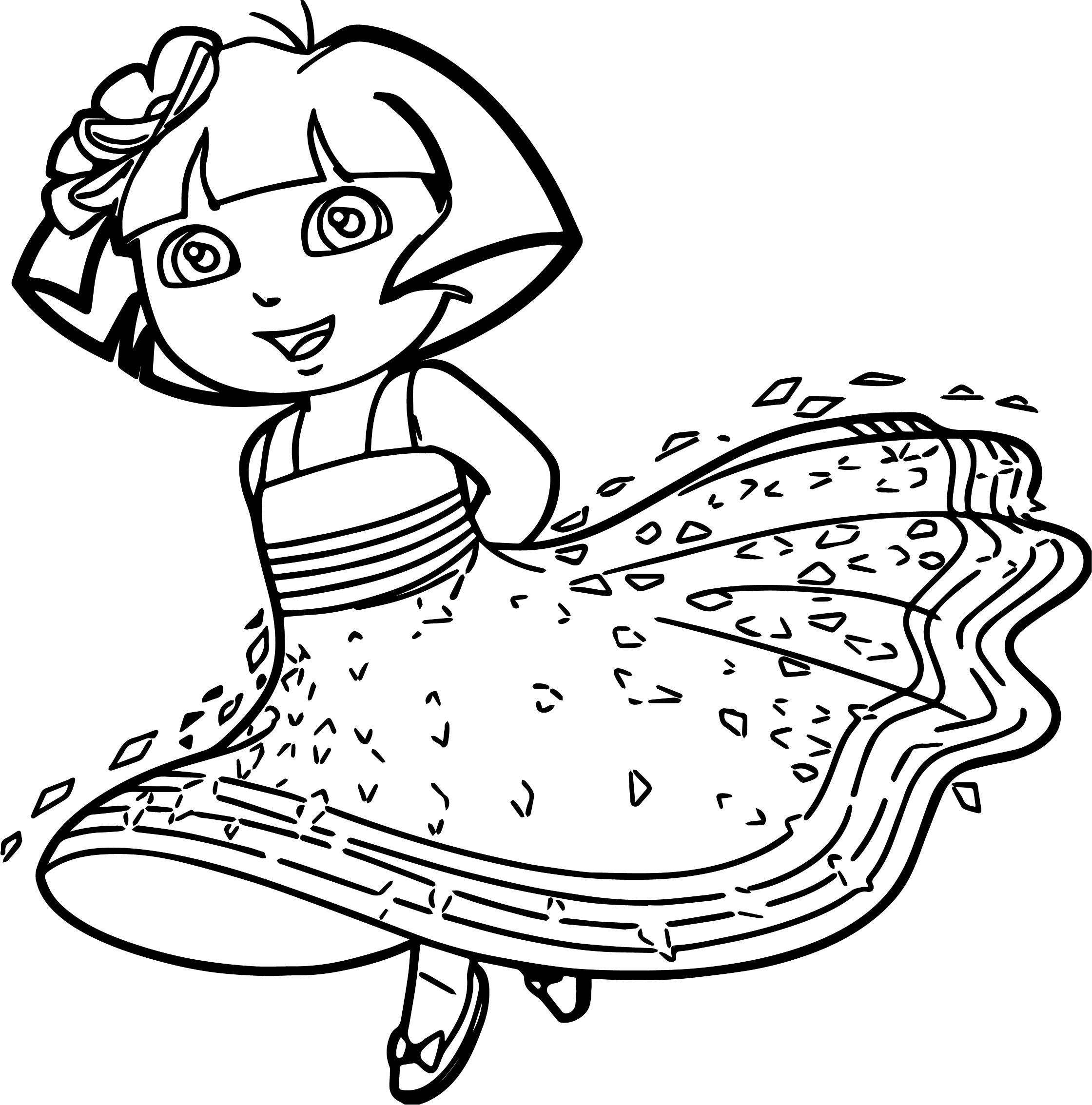 dora free coloring pages dora halloween coloring pages at getcoloringscom free coloring dora pages free