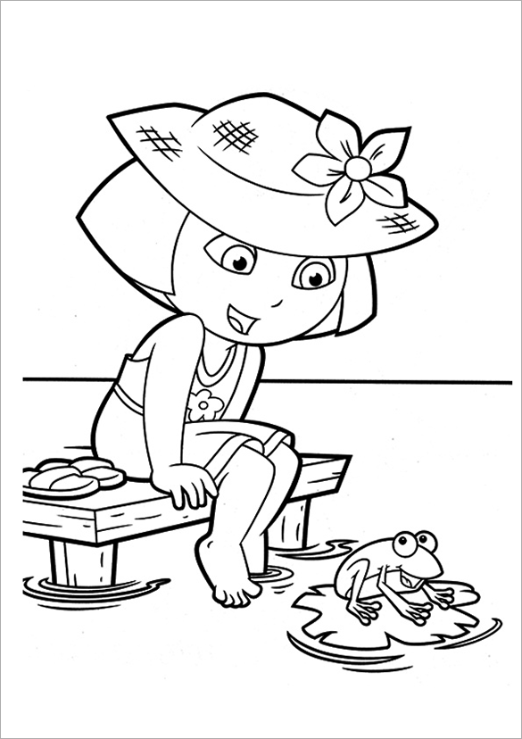 dora printables print download dora coloring pages to learn new things dora printables