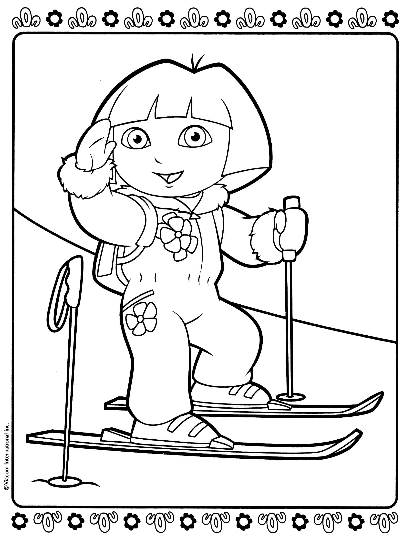 dora printables print download dora coloring pages to learn new things printables dora 1 1