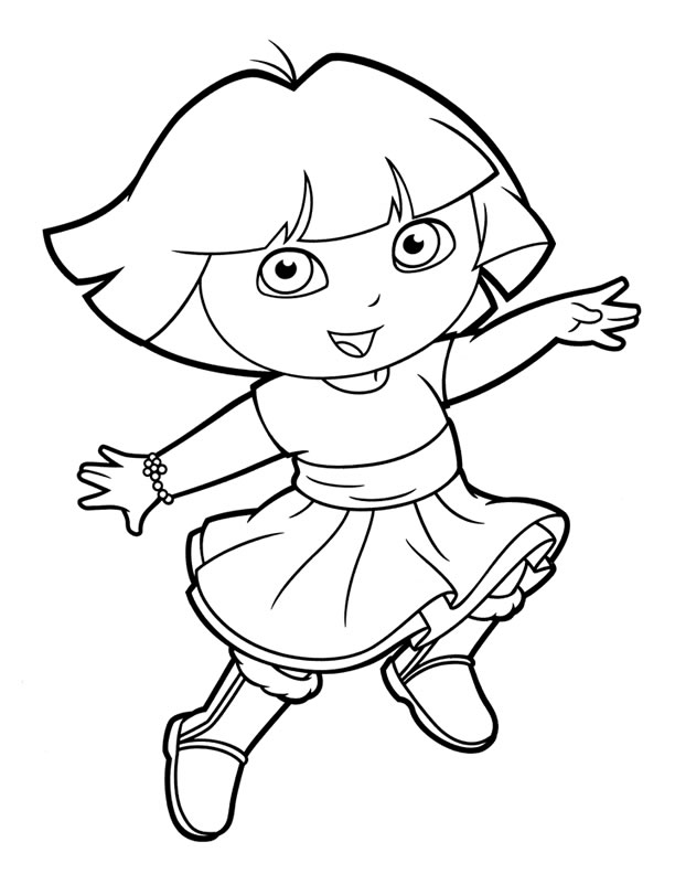 dora printables print download dora coloring pages to learn new things printables dora 1 2