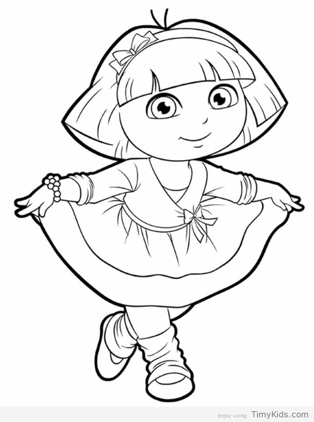 dora sketch for coloring dora and friends drawing at getdrawings free download coloring sketch for dora